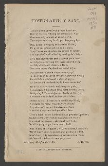 Tystiolaeth y Sant (1850)